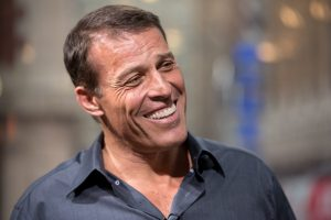 NEW YORK, NY - JULY 13:  Tony Robbins visits